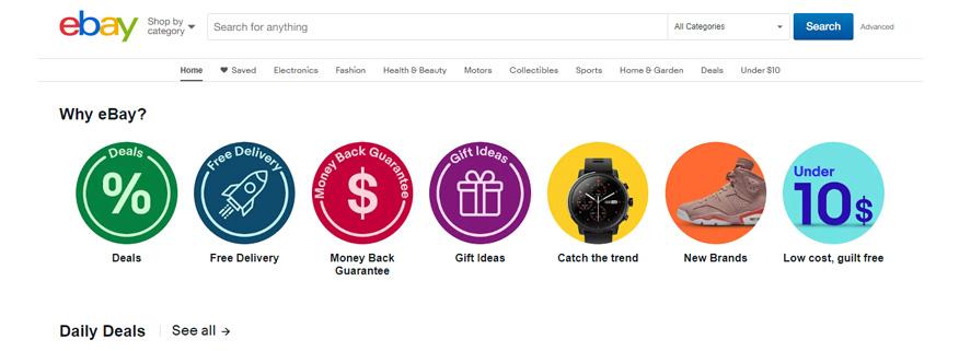 mô hình kinh doanh của eBay