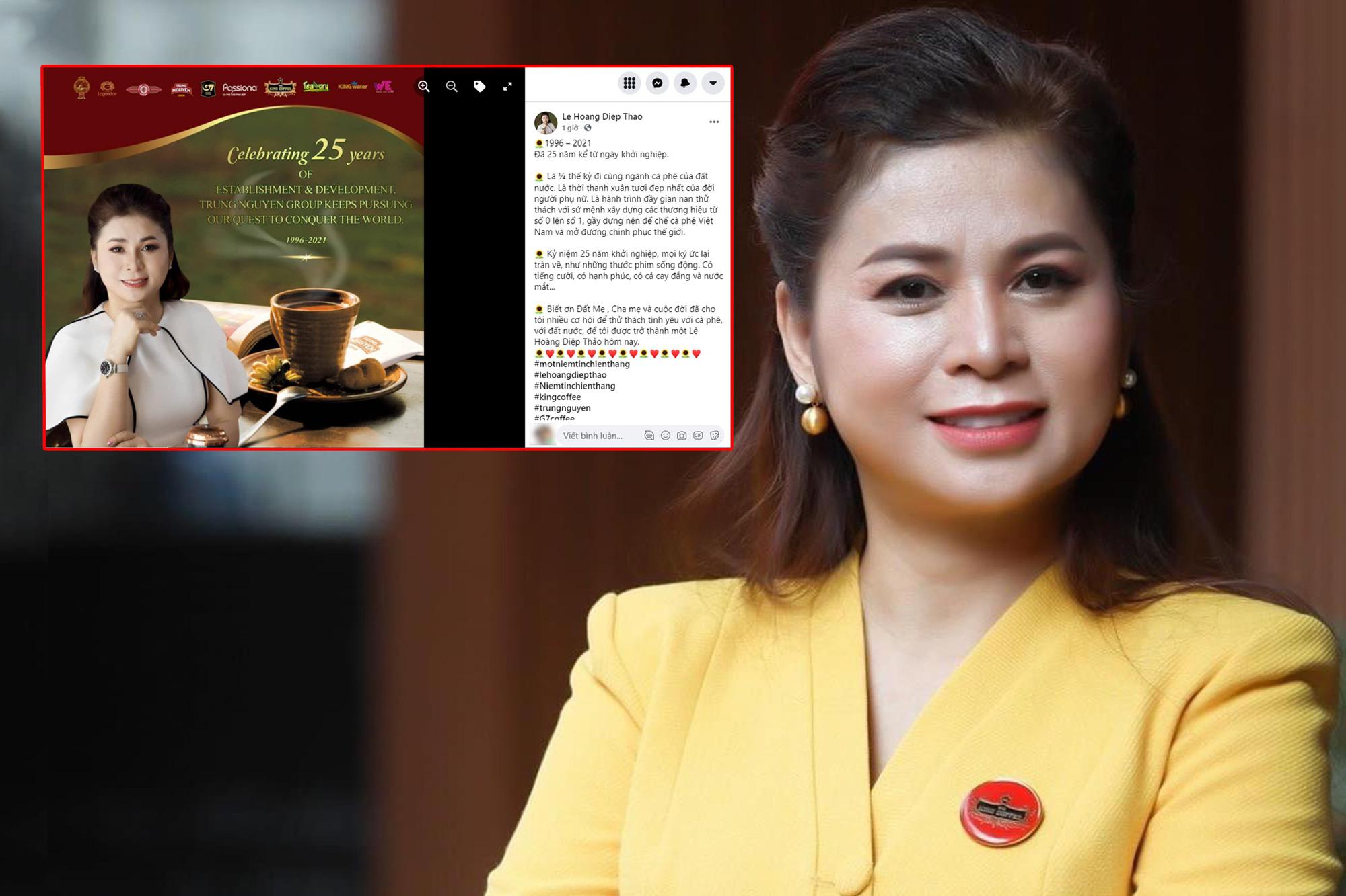 Bà Lê Hoàng Diệp Thảo đăng ảnh kỷ niệm 25 năm khởi nghiệp Trung Nguyên: Thời thanh xuân tươi đẹp nhất của người phụ nữ